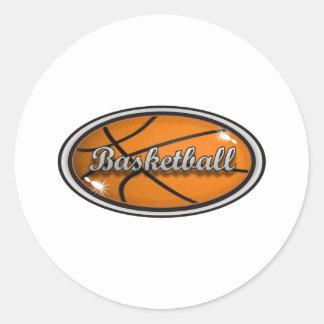 Basketball 1 round sticker