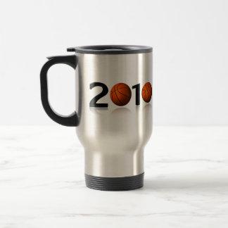 Basketball 2010 stainless steel travel mug