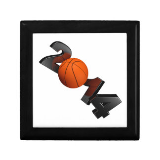 Basketball 2014 small square gift box