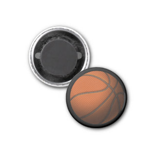 Basketball 2 3 cm round magnet