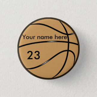 Basketball 3 Cm Round Badge