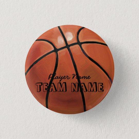 Basketball 3 Cm Round Badge