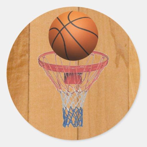 Basketball - 3D Effect Round Sticker