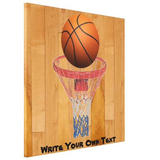 Basketball - 3D Effect - Write Your Own Text Canvas Prints