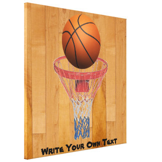 Basketball - 3D Effect - Write Your Own Text Canvas Print