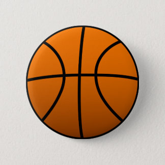 Basketball 6 Cm Round Badge