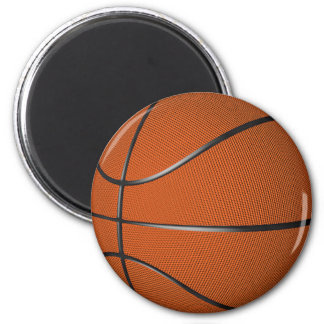 Basketball 6 Cm Round Magnet