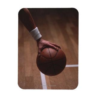 Basketball 6 rectangular photo magnet