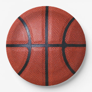 Basketball 9 Inch Paper Plate