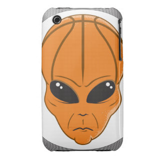 basketball alien head graphic iPhone 3 cover