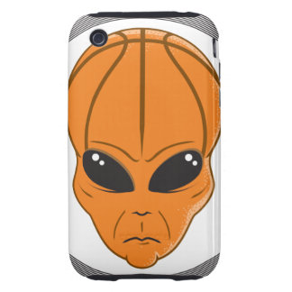 basketball alien head graphic iPhone 3 tough cases