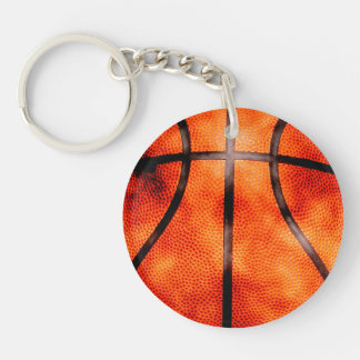 Basketball All Day Grunge Style Key Ring
