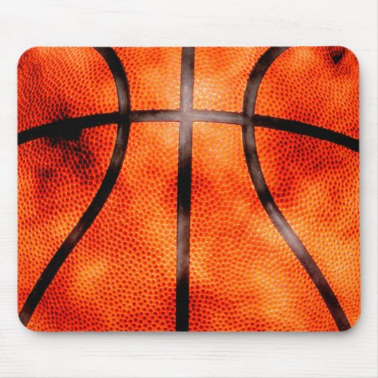 Basketball All Day Grunge Style Mouse Pad