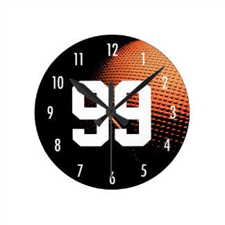 Basketball All Star Custom Number Sport Theme Clock