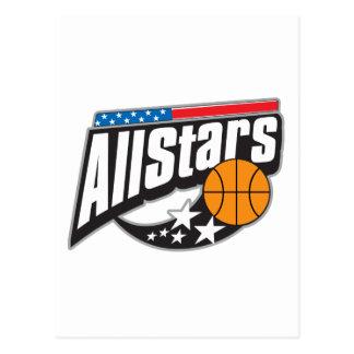 Basketball All Stars Postcard