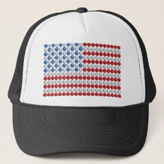 Basketball American Flag Trucker Hat