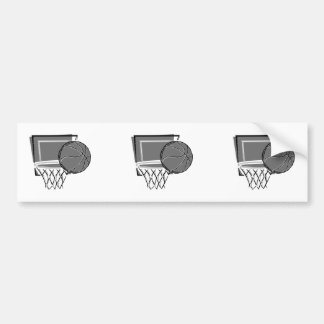 basketball and hoop design greys bumper stickers