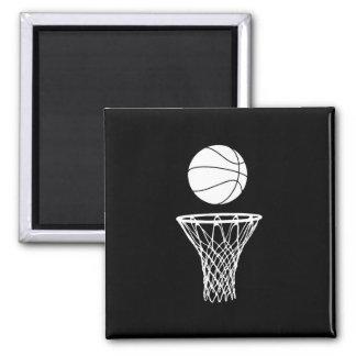 Basketball and Hoop Magnet Black