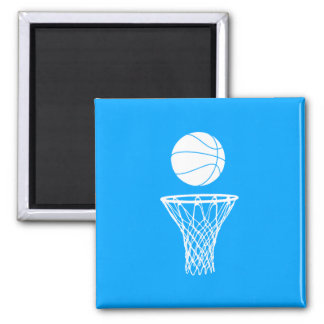 Basketball and Hoop Magnet Blue