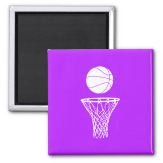 Basketball and Hoop Magnet Purple