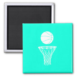Basketball and Hoop Magnet Turquoise