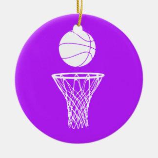 Basketball and Hoop Ornament Purple