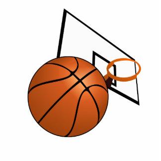 Basketball and Hoop Standing Photo Sculpture