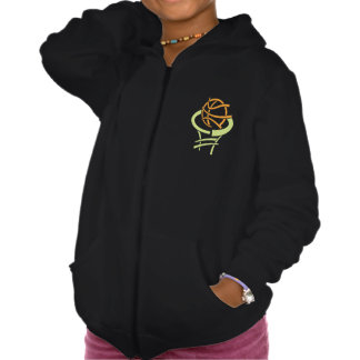Basketball And Net Girls Hoodie