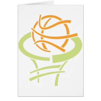 Basketball And Net Greeting Cards