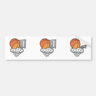 basketball and net vector graphic bumper stickers