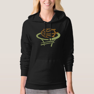Basketball And Net Womens Hoodie