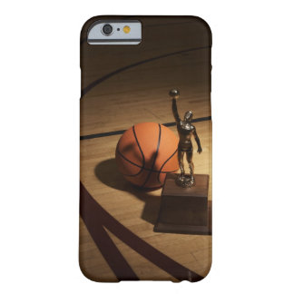 Basketball and trophy on basketball court, barely there iPhone 6 case
