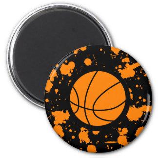 Basketball Art 6 Cm Round Magnet