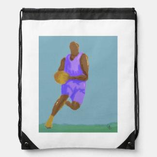 Basketball Art Drawstring Bag