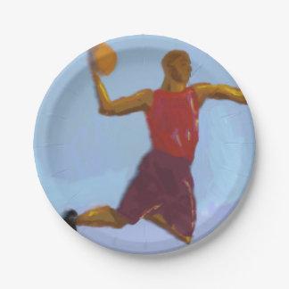 Basketball Art Paper Plate