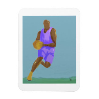 Basketball Art Rectangular Photo Magnet