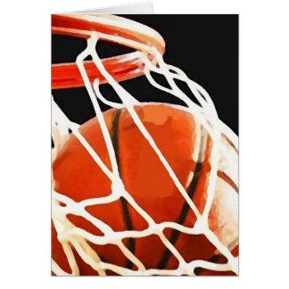 Basketball Artwork Greeting Card