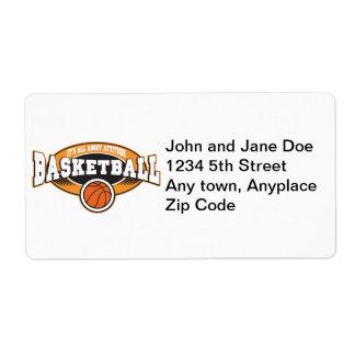 Basketball Attitude Shipping Label