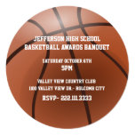 Basketball Awards Banquet Invitation 13 Cm X 13 Cm Square Invitation Card
