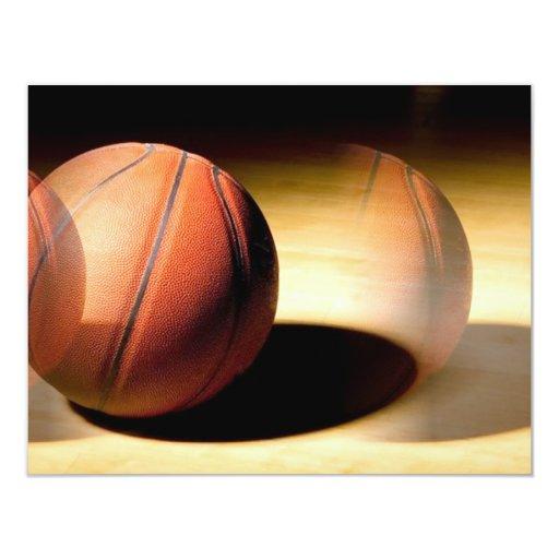 "Basketball Ball 4.25"" X 5.5"" Invitation Card"