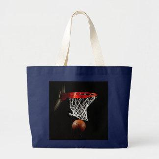 Basketball Ball & Net Large Tote Bag