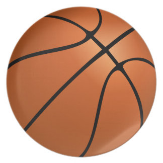 basketball (ball) party plate