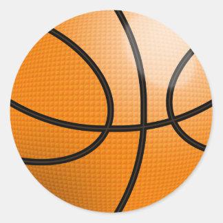 Basketball Ball Round Sticker