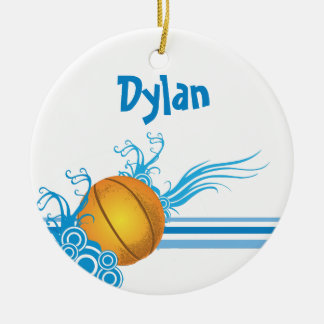 Basketball Ball Sports Game Personalized Name Christmas Ornament