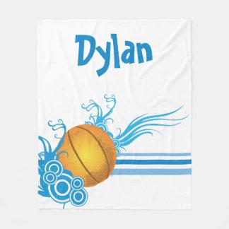 Basketball Ball Sports Game Personalized Name Fleece Blanket