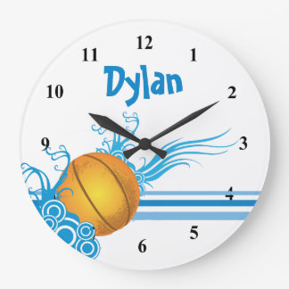 Basketball Ball Sports Game Personalized Name Large Clock