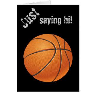 Basketball Ball, Team Sport Greeting Card