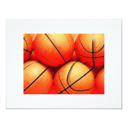 Basketball Balls Invitations