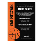 Basketball Bar Mitzvah 13 Cm X 18 Cm Invitation Card