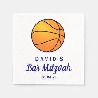 Basketball Bar Mitzvah Custom Paper Napkin